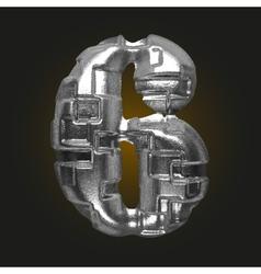 Metal figure 6 vector