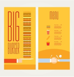 Hand drawn of burger and ingredients vector
