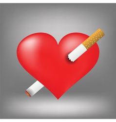 Cigarette and heart vector