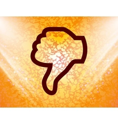 Dislike thumb down icon symbol flat modern web vector