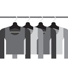 Sleeves shirts with hangers vector