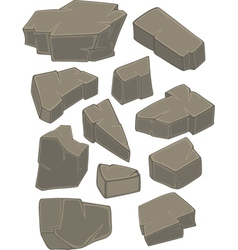 A set of stones cartoon vector