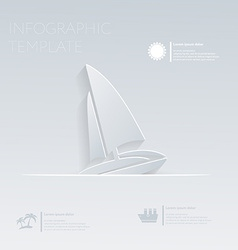 Sailing boat theme holidays template infographic vector