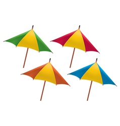 Umbrella for drink vector