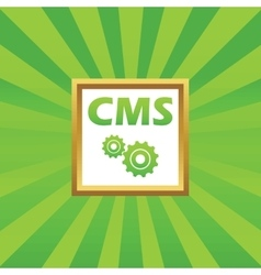 Cms settings picture icon vector