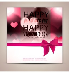 Elegant greeting card with hearts and copy space vector