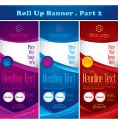 Multipurpose rollup banner vector