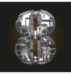 Metal figure 8 vector