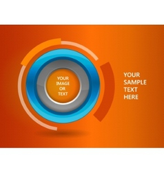 3d circle frame on a orange background vector