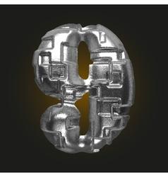 Metal figure 9 vector