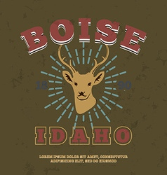 Boise idaho t-shirt graphic print vector