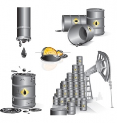 Oil set vector