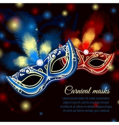Party mask background vector