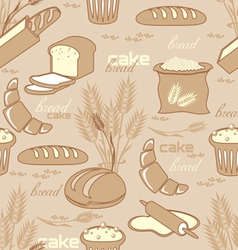 Bread seamless background vector