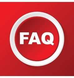 Faq icon on red vector