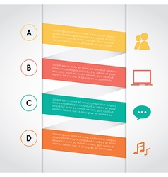 Set of colored rectangle infographic vector