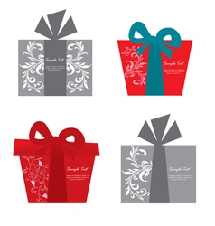 Gift box set vector