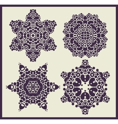 Ornamental stars patterns vector