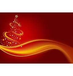 Fiery christmas tree vector