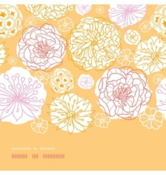 Warm day flowers horizontal decor seamless pattern vector