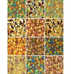 Set of geometric seamless pattern vector