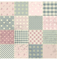 Patchwork in style shabby chic vector