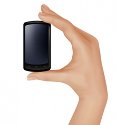 Hand with telephone vector