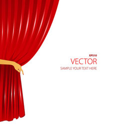 Curtain with hand vector