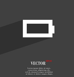 Battery empty icon symbol flat modern web design vector