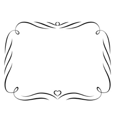 Calligraphy ornamental decorative frame vector