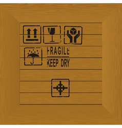 Wood box stamp vector