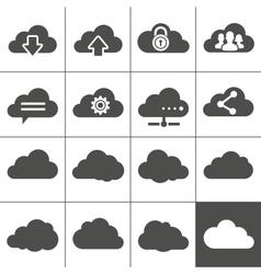Cloud computing icons vector