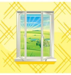 Summer window vector