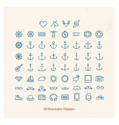 Line icons vector