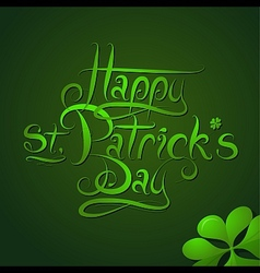 St patrick day greeting card calligraphy vector
