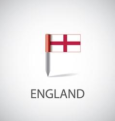 England flag pin vector