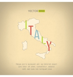Italy map in vintage design italian border vector