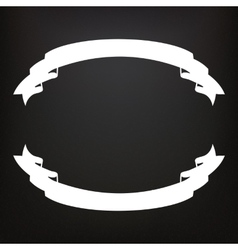 Hand drawn ribbons on the blackboard vector