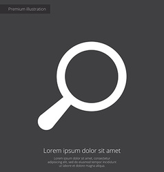 Search premium icon white on dark background vector