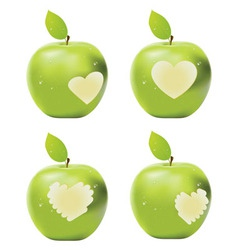 Green apple bite vector