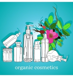 Organic cosmetics vector