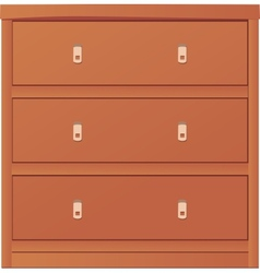 Light-colored simple chest of drawers vector