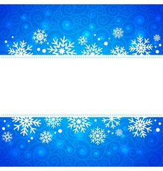 Winter  frame with snowflakes and highlights vector