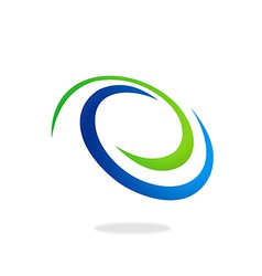 Circle 2d abstract logo vector
