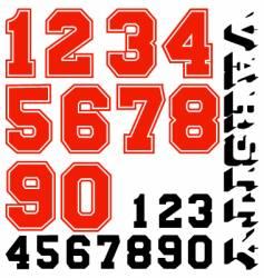 Varsity numbers vector
