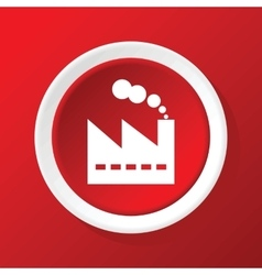 Factory icon on red vector