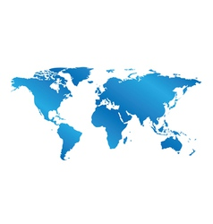 Blue map of the world with gradient vector