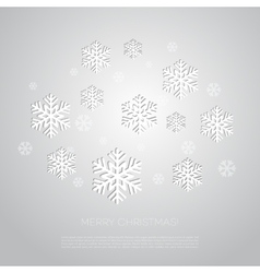 Merry christmas greeting card with snowflakes vector