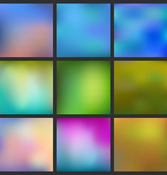 Set of abstract colorful blurred background can vector