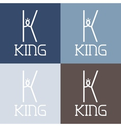 King monogram vector